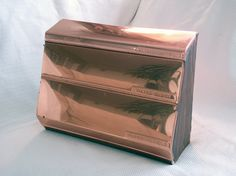 vintage copper lincoln beauty ware kitchen canisters | Vintage Copper Kitchen Dispenser. Retro Kitchen by bohoquilts