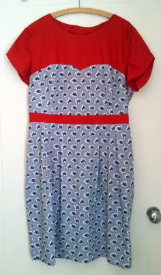 Red White and Blue Colette Macaron Dress   @ColettePatterns #sewing #dressmaking #fashion