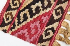 Chancay, Peru, 1100-1400A.D. Archaeological textile in the Helen Louise Allen Textile Collection.
