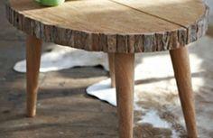 Couchtische massivholz Baumstamm tischbeine
