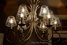Chicken Wire Light Shade Covers, Bliss Ranch