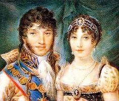 Caroline Bonaparte was 18 in 1800 when she fell in love with one of Napoleon's generals, Joachim Murat. Napoleon did not want them to marry, but Empress Josephine persuaded him. Despite this kindness from her 'enemy', Caroline did not treat Josephine any better afterwards. Ultimately she brought Josephine's downfall when she urged her brother to take a mistress, who then produced a son, proving it was Josephine, not Napoleon who was infertile.