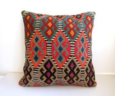 elhieroglyph:      antique handmade kilim pillow coverfrom mothersatelier