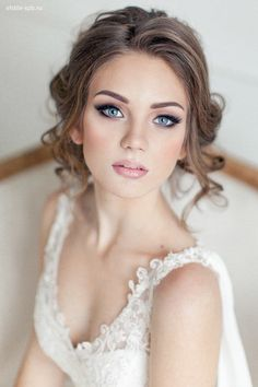 A gorgeous natural bridal look. For lots more wedding inspiration go to Cornwall…