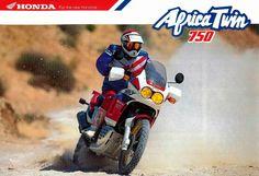 Honda XRV750 Africa Twin allroad motorfiets #dakar