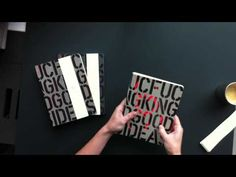 Nuuna Graphic L 'F***ing Good Ideas' Thermo Varnish Notebook - YouTube
