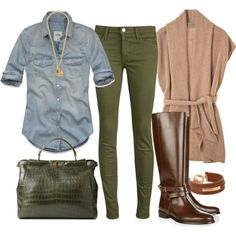 Image result for what to wear with olive green pants