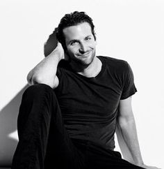 Bradley Cooper in black  Like this pose for a guy!  LOVE Bradley Cooper!