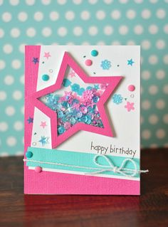 Attaching balloon stringskrystals cards stampin up celebrate happy birthday handmade card using queen co pop up shaker set perfect for creating shaker cards birthday cards masculine cards get well soon cards and m4hsunfo