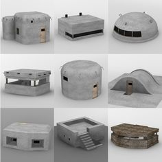 military bunkers model bunkers military modelYou can find Military diorama and more on our website Bunker, Airsoft, Warhammer Terrain, 3d Modelle, Model Hobbies, Wargaming Terrain, Military Modelling, Survival Shelter, Fortification