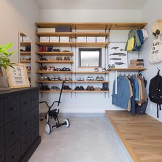 Bike Room, Natural Interior, Store Interiors, Interior Decorating, Interior Design, House Entrance, Japanese House, Home Renovation, Entryway Decor