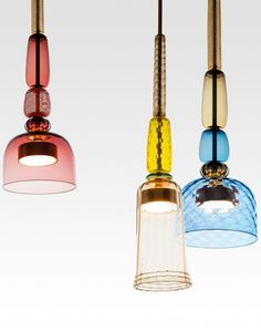 Murano #glass pendant #lamp FLAUTI by GALLERY S.BENSIMON | #design Giopato & Coombes