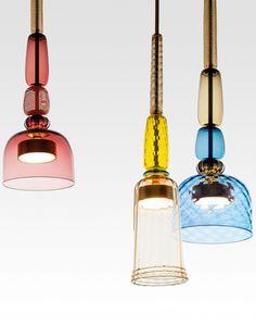 Murano glass pendant lamp FLAUTI by Gallery S. Lighting Concepts, Lighting Design, Pendant Lamp, Pendant Lighting, Ceiling Lamp, Ceiling Lights, Italian Lighting, Contemporary Pendant Lights, Lamp Design