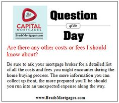 Mortgage Broker Question of the Day
