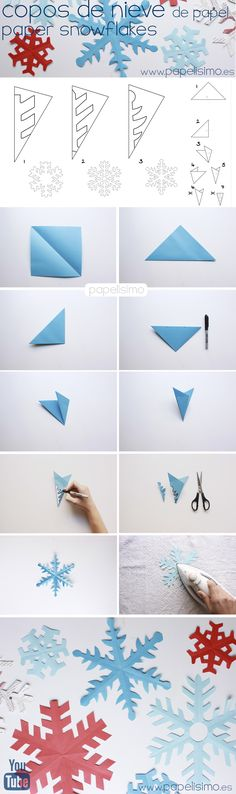 Flocos de neve de papel
