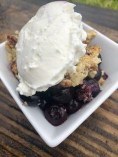 Blueberry Crisp {low carb/Keto} | HEALTH WITH JESSICA
