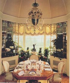 from The Peak of Chic  Breakfast room at Hillwood, estate of Marjorie Merriweather Post