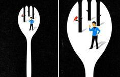30 Brilliant Negative Space Artworks by Tang Yau Hoong - UltraLinx
