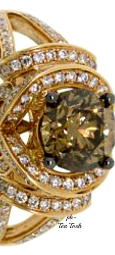 ❇Téa Tosh❇Le Vian, Chocolate Diamond®, Swirling Vanilla Diamonds®, Set in 14k. Honey Gold®