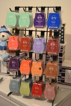 BAR RACK DISPLAY - Just got one of these too! So helpful!! <3 http://tammylynnsmith.scentsy.us