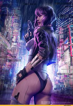 Fan Art of Motoko Kusanagi Cyberpunk 2077, Arte Cyberpunk, Cyberpunk Girl, Cyberpunk Character, Cyberpunk Fashion, Fantasy Women, Fantasy Girl, Female Character Design, Character Art