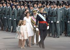Prince Felipe, crowned as Felipe VI of Spain, and Queen Letizia,  arrive to Spanish parlia...