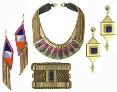 tribal jewellery in antique setting