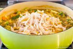Easy Southwest Chicken Detox Soup Recipe #cleanse #diet