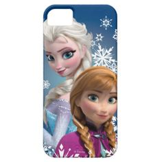Cute Disney Frozen Anna and Elsa iPhone 5/5s case for girls.