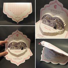 Cartões de casamento originais em papel moldado de Olga Cuzuioc - Convites simplesmente mágicos!