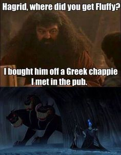Fluffy/Cerberus (Harry Potter/Hercules)