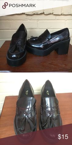Platform loafers Burgundy platform loafers. Perfect for the Punk Rock Professional. Mossimo Supply Co Shoes Platforms