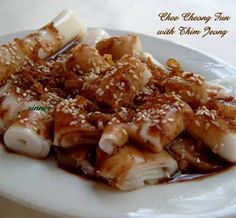 Chee Cheong Fun with Thim Jeong /  Steam Rice Rolls With Sweet Sauce Recipe (The Waitakere Redneck's Kitchen)