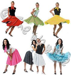 photos of womens clothing from 50s and 60s | ROCK N ROLL SKIRTS - 50s 60s DANCE LINDY HOP JIVE - 7 DIFF COLOURS ...
