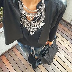 Glamorous Over The Top Statement Necklace #outfitoftheday #fashionista - 27,90 € @happinessboutique.com