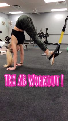 This TRX AB WORKOUT is a awesome one to work into your workout routine. It will target your abs and arms. A workout you can do without weights. Training for beginners Training plan Training video Training weightlifting Training women Training workout Fitness Workouts, Trx Ab Workout, Trx Abs, Abs Workout Video, Abs Workout Routines, Sport Fitness, At Home Workouts, Ab Routine, Trx Workouts For Women