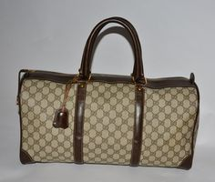 Gucci Vintage Brown Travel Bag