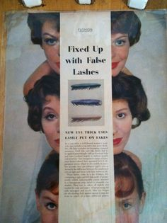 Ladies eye lash advertising and pen on back