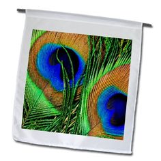 3dRose fl_66288_1 Blue, Green and Orange Colored Peacock Feathers Garden Flag, 12 by 18-Inch 3dRose http://www.amazon.com/dp/B00BRG3X7I/ref=cm_sw_r_pi_dp_Dm3uub1C8JEG2
