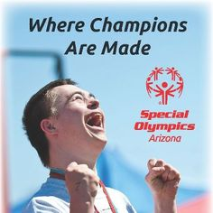 Awesome photo from Special Olympics Arizona. We should all have such joy!!