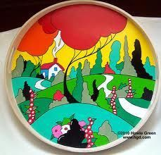 Image result for clarice cliff ceramic designs Clarice Cliff, China Painting, Ceramic Painting, Painted Ceramics, Pottery Houses, Pottery Art, Yorky, Different Kinds Of Art, Cottage Art