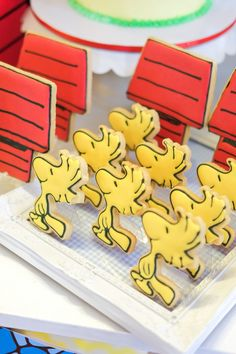 Woodstock cookies from a Peanuts + Snoopy Birthday Party on Kara's Party Ideas | KarasPartyIdeas.com (11)