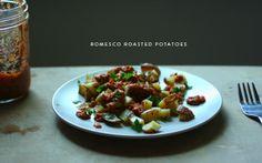 Mince and Type: Romesco roasted potatoes