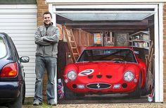 Car enthusiast Chris Smart could not afford the £15 million Ferrari he always wanted - so he painted it on his garage door instead.