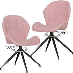 Stühle 2er Set YUKI in Vintage-rot gepolstert
