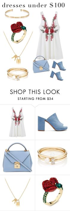 """Dresses under 100 jewelry over 1000"" by sophiarose1216 ❤ liked on Polyvore featuring Robert Clergerie, Mark Cross, Loren Stewart, Atelier Swarovski and Ileana Makri"
