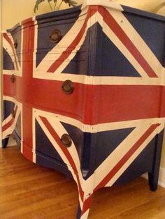 Union Jack Dresser. British Flag Console. SOLD.