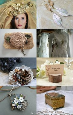 Rustic, Woodland, Shabby, Boho Chic Wedding Inspiration From Talented Etsy Artisans by Marilyn on Etsy--Pinned+with+TreasuryPin.com