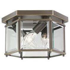 Progress Lighting 4-Light Antique Bronze Flushmount - P5789-20 - The Home Depot