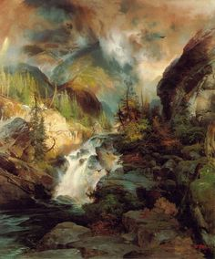 """Thomas Moran, """"Children of the Mountain"""", 1867  Cave to Canvas,"""